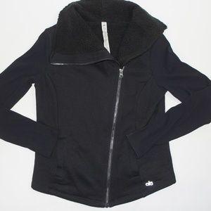 Alo Yoga Black Fleece Jacket
